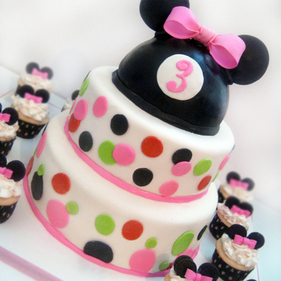 Minnie Mouse And Cupcakes