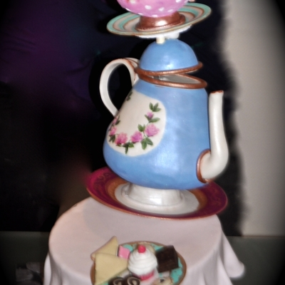 Wonky Teapot Cake on Cake Central