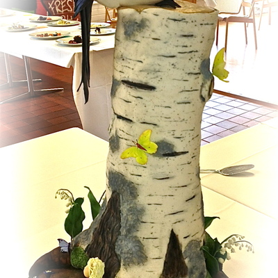 Showpiece I Made For My Debut As A New Member Of Culinary Team Finland This Was Over 2 Feet Tall The Birch Stump And Magpie Were Made Fr