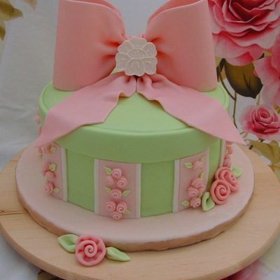 Ribbon Flower Cake