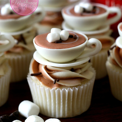 Hot Chocolate (Cocoa) Cupcake Toppers