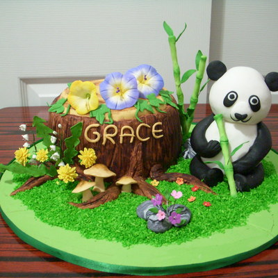 Gonna Love Panda Rice Crispy Made For Panda And 8 Cake Tree Stump