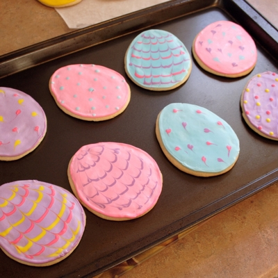 Easter Cutout Sugar Cookies