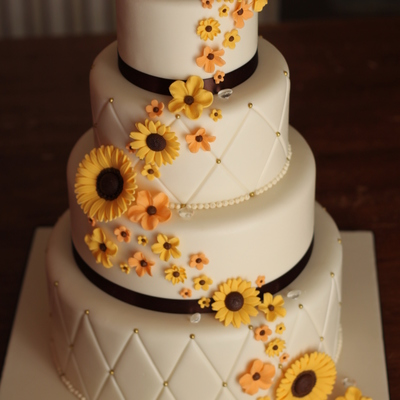 Diamond Embossed Wedding Cake