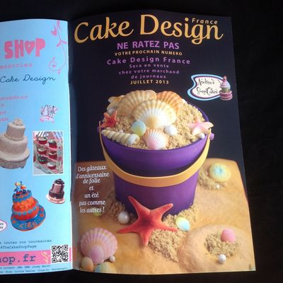 Andrea's Sweetcakes Sand Bucket Cake Tutorial In Cake Design France Magazine on Cake Central