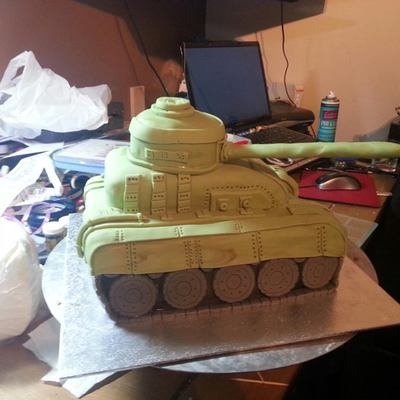 First Attempt At A Tank For My Grandson X