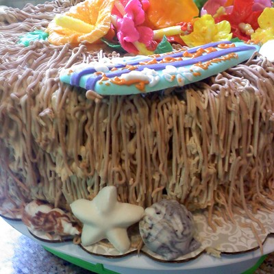 Luau Ice Cream Cake on Cake Central