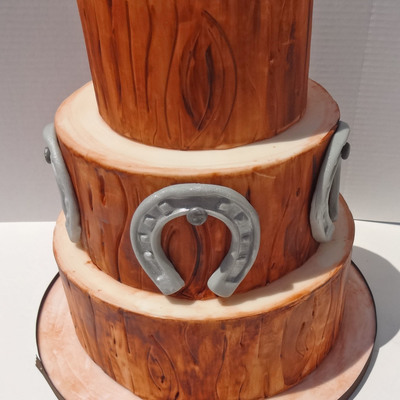 Oak Wedding Cake