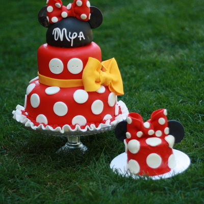 Minnie Mouse Cake And Smash Cake