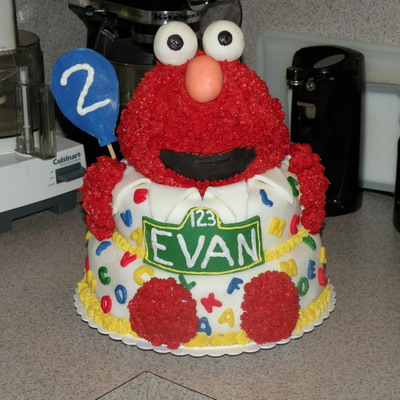 Incredible Elmo Cake Decorating Photos Personalised Birthday Cards Veneteletsinfo