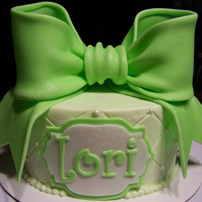 This Was A Just Because Cake I Made So I Could Try Out The Giant Bow From Torta Couture Cakes