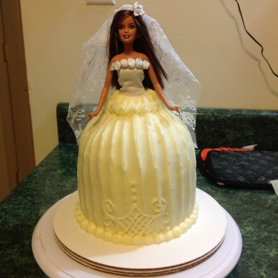 Barbie Dress Cake For A Bridal Shower 1St Time Doing A 3D Like Cake