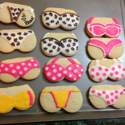 Lingerie Cookies For A Bachelorette Party