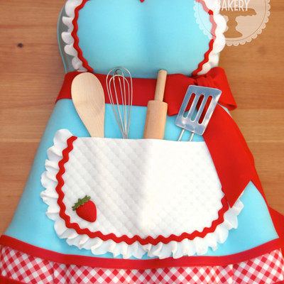 Apron Kitchen Tea Bridal Shower Cake