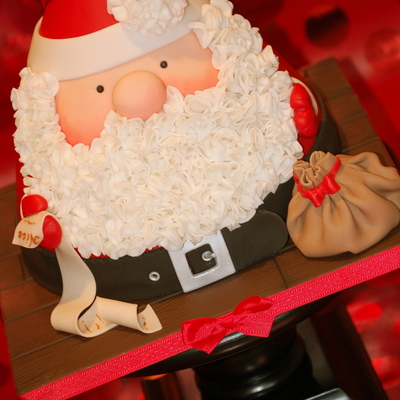 A Rather Jolly Santa 8 Wide And 9 Tall Tutorial Available On My Facebook Page on Cake Central