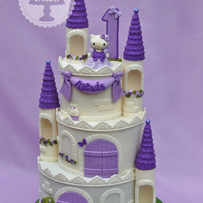 Hello Kitty Castle on Cake Central