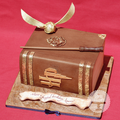 A Harry Potter Themed Book Cake For Laurens 25Th Birthday The Original Design Is By Sweet Blossom Cakes Who Was Gracious Enough To Even T