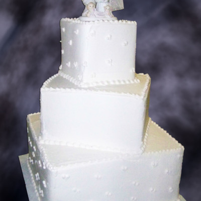 Square Wedding Cakes on Cake Central