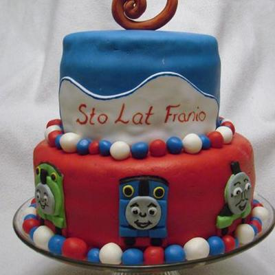 Thomas The Tank Engine Fondant Cake