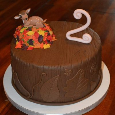 Autumn Deer 2Nd Birthday Cake
