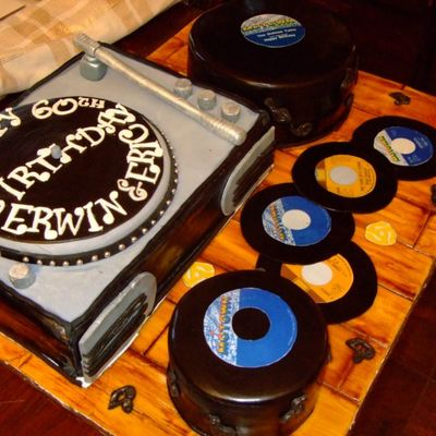 Motown Records And Record Player