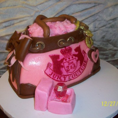 Juicy Couture Purse Cake