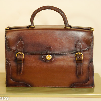 Vintage Standing Briefcase Cake