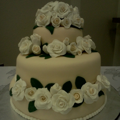 This Was My First Wedding Cake :)