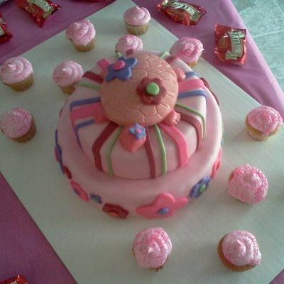 Pink Turtle Baby Shower Cake