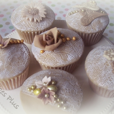 Antique Lace Cupcakes