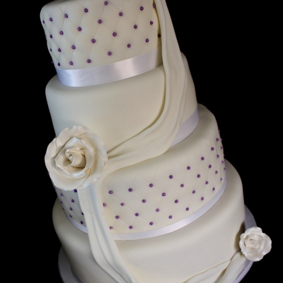 Diamond Quilted Wedding Cake