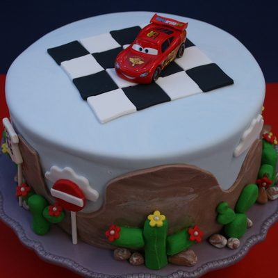 Lightning Mcqueen By Dreamcakesinrome A McQueen Cake For 5 Year Old Boy