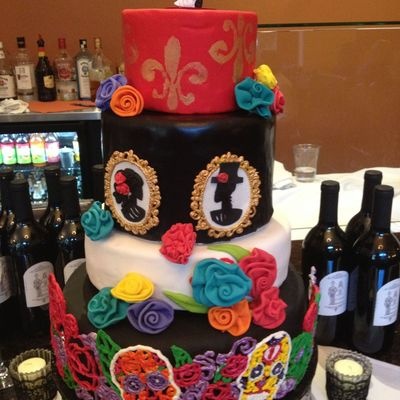 Day Of The Dead Wedding For My Brother I Had So Much Trouble With This Cake But I Guess When You Procrastinate Until Less Than A Week Befor...