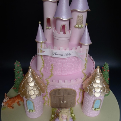 Princess Shelly's Castle Cake