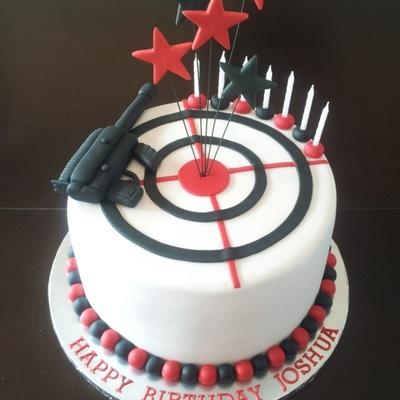 Laser Tag Themed Boys Birthday Cake By CreativeCakepops