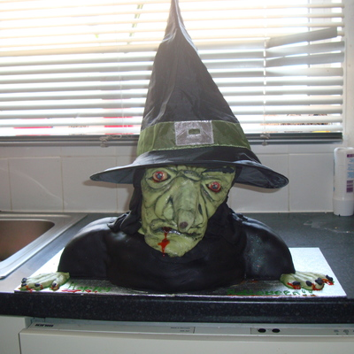 Witch 3D Bust Cake