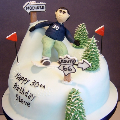Snowboarding 30Th Cake! on Cake Central