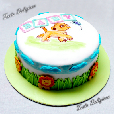 Gender Reveal Cake Simba Lion King