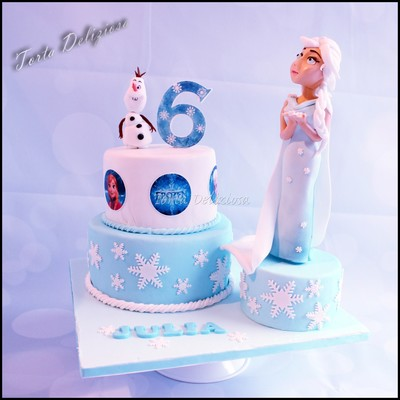Elza And Olaf Birthday Cake
