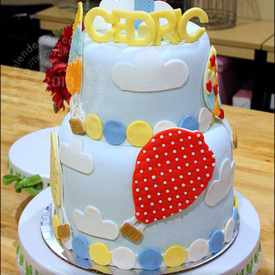 Hot Air Balloons Cake
