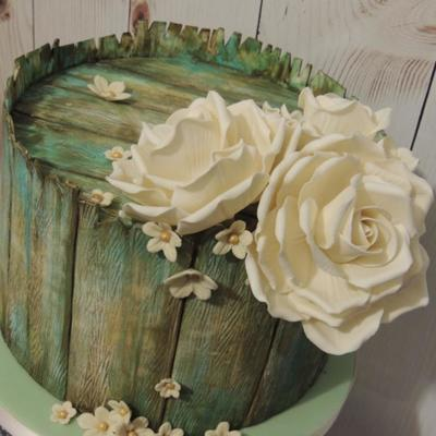 Vintage Wood And Roses