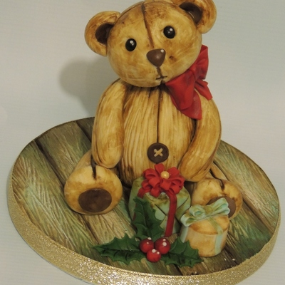 Vintage Teddy Christmas Topper
