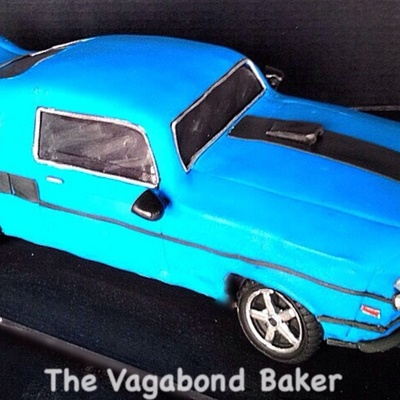 69 Ford Mustang Grooms Cake