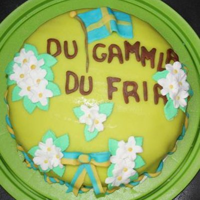 Sweden National Day Cake