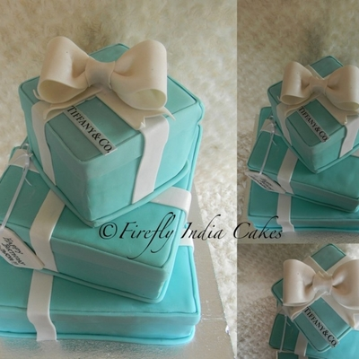 Tiffany Boxes Cake