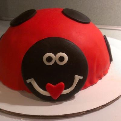 Ladybug Smash Cake For Babys 1St Birthday