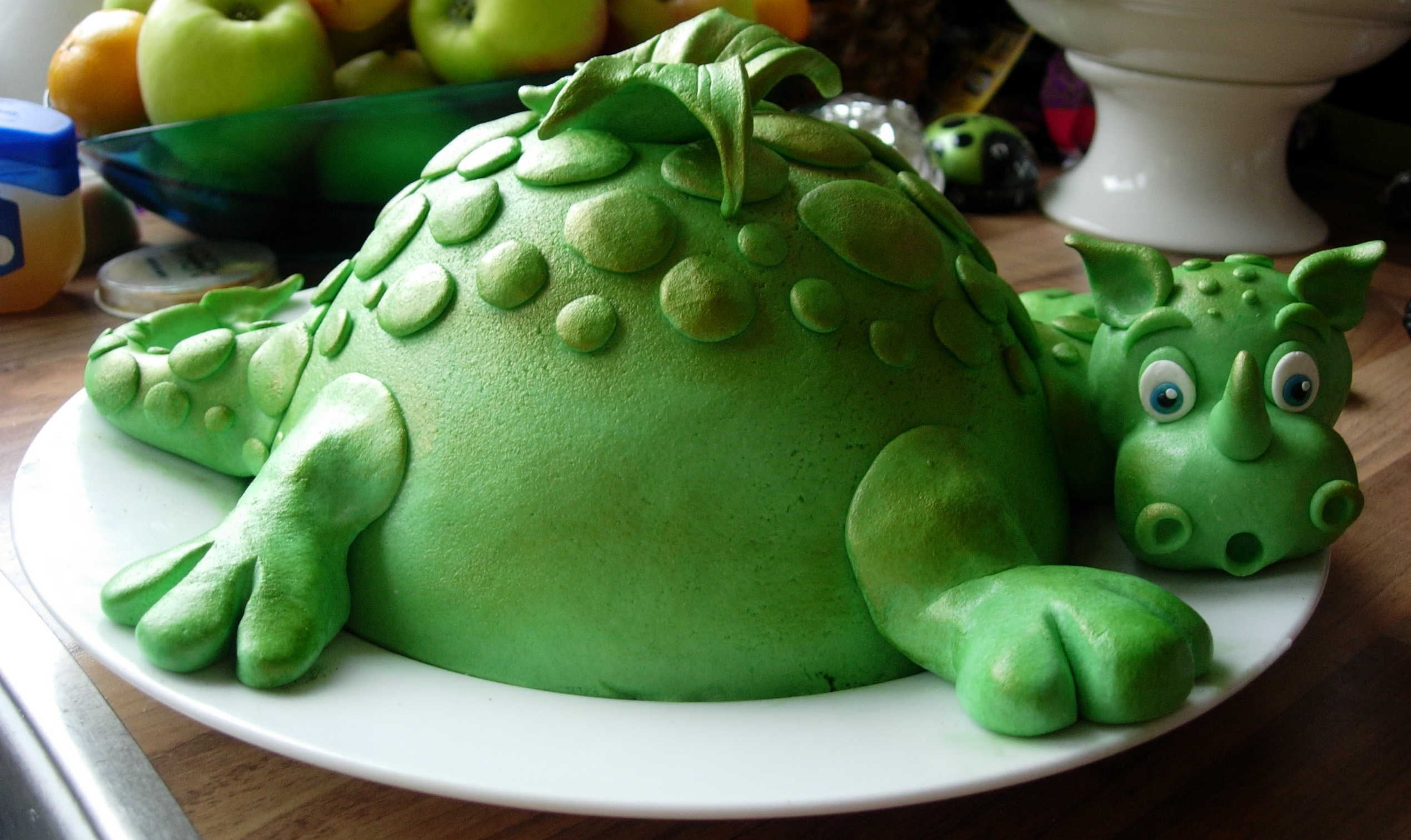 Dragon Cake Inspired By Debbie Brown Without The Egg on Cake Central