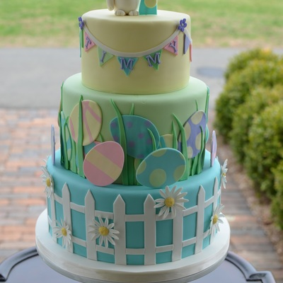 Easter Themed First Birthday Cake