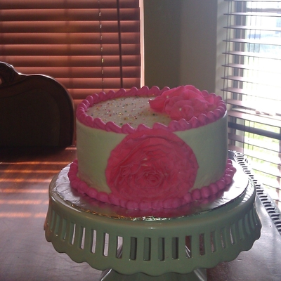 Pink Flower Birthday Cake