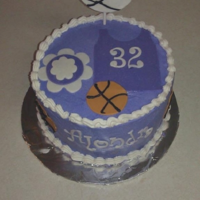 Sports Cake For A Middle School Girl